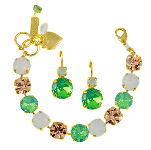 Mariana Quot Seaside Day Quot Yellow Gold Plated Swarovski Crystal