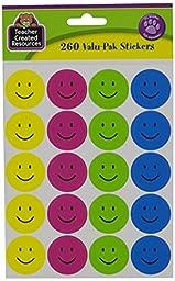 Teacher Created Resources Happy Face Stickers Valu-Pak (6632)
