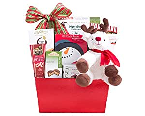 Wine Country Gift Baskets Reindeer and Sweets, 3 Pound