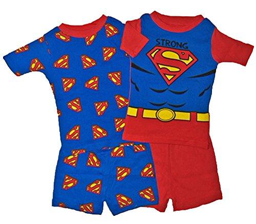 Superman Toddler 4 Pc Cotton Sleepwear Set