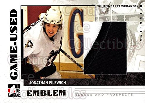 2007 ITG Heroes and Prospects Emblem 47 Jonathan Filewich Mint (47 Emblem compare prices)
