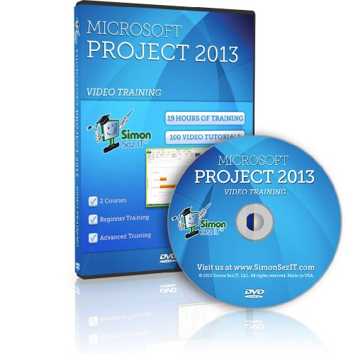 Learn Microsoft Project 2013 Training Videos – 19 Hours of Project 2013 training for beginner, intermediate and advanced learners