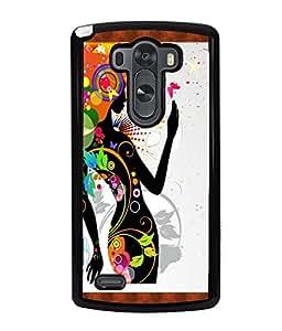 Fuson Pattern Girl Back Case Cover for LG G3 - D3632