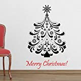 Decal Style Christams Tree Wall Sticker Large Size- 25*39 Inch