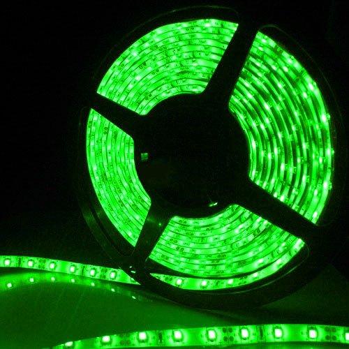 Supernight (Tm) 16.4Ft 5M Smd 5050 Waterproof 300Leds Green Led Flash Strip Light ,Led Flexible Ribbon Lighting Strip,12V 60W front-48181
