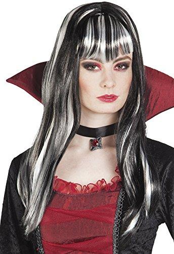 Boland 86287 - Parrucca Vampira Medea, Nero/Bianco, Taglia Unica