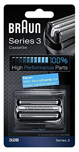 Braun razor Replacement Foil & Cutter Cassette 32B Series 3 320 330 340 350CC black shaving heads (Braun 380 Replacement compare prices)