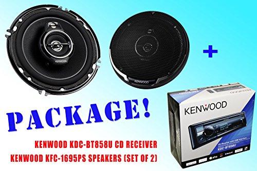 Package ! Kenwood Kdc-Bt858U Cd-Receiver + Kenwood Kfc-1695Ps Car Speakers