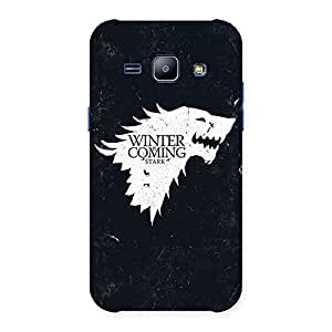 Enticing Comming Of Winter Back Case Cover for Galaxy J1