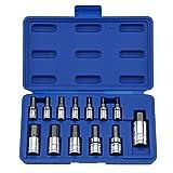 Neiko 10074A Hex Bit Socket Set, S2 Steel | 13-Piece Set | Metric