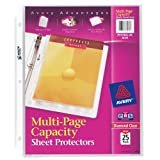 Avery Diamond Clear Multi-Page Capacity Sheet Protectors, Acid Free, Pack of 25 (74171)