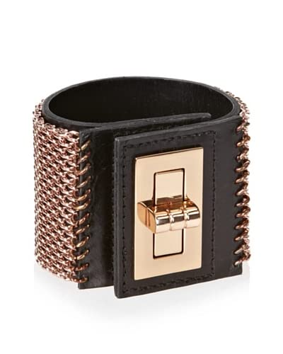 CC Skye Siwy Leather and Cage Cuff As You See