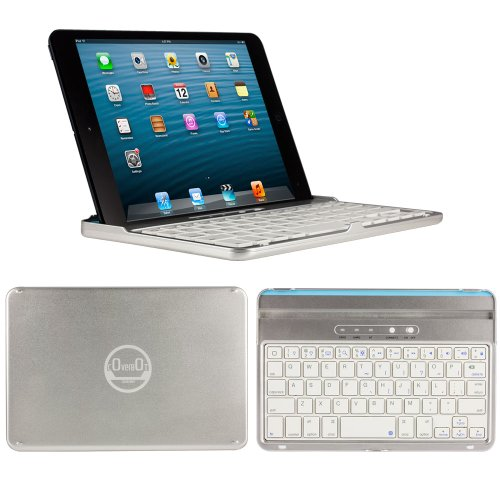 Coverbot Ipad Mini & Ipad Mini With Retina Display Keyboard Case And Stand Silver - Aluminum Bluetooth Keyboard Case With Integrated Ios Command Keys For Ipad Mini