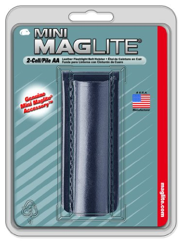 Maglite Black Plain Leather Holster for AA Cell Mini Flashlights (Mini Mag Holster compare prices)
