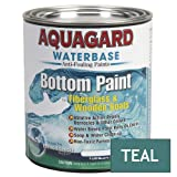 Aquagard Waterbased Anti-Fouling Bottom Paint - 1Qt - Teal-Boat Outfitting | Bot