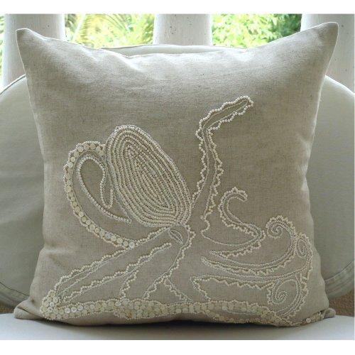Torre /& Tagus 901282 Safari Crewel Embellished Square Cushion Leopard Print