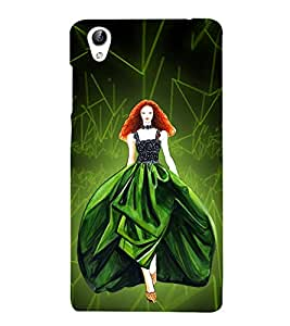 Beautiful Princess Cute Fashion 3D Hard Polycarbonate Designer Back Case Cover for vivo Y51 :: Vivo Y51L