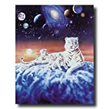 Galaxy Celestial Tiger Cub Cat Animal Wildlife Fantasy Home Decor Wall Picture 16x20 Art Print