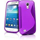 Galaxy S4 Case, Samsung Galaxy S4 Case- Rugged Drop Impact Resistant Skin Compatible With Samsung Galaxy S4 IV i9500 Tough Strong Protective Soft Jelly Case Shell Cover Skin Cases By Cable and Case® -Purple S4 Case