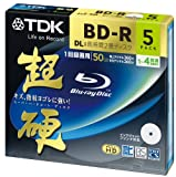 TDK Blu-ray BD-R Disk Super Hard Coating Surface 50GB (DL) 4x Speed 5 Pack (Japan Import)