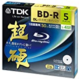TDK Blu-ray BD-R DL Disk | Super Hard Coating Surface 50GB Blueray 4x Speed 5 Pack (japan import)di TDK Media