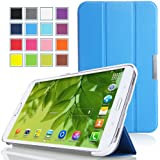 MoKo Samsung Galaxy Tab 3 8.0 Case - Ultra Slim Lightweight Smart-shell Stand Cover Case for Samsung Galaxy Tab 3 8.0 inch SM-T3100 / SM-T3110 Android Tablet, BLUE (with Smart Auto Wake / Sleep Feature. WILL NOT Fit Samsung Galaxy Tab 4 8.0)