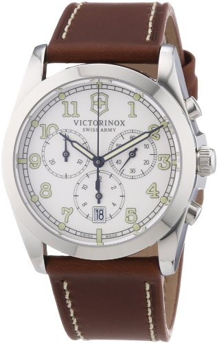 Victorinox Swiss Army 241568 - Reloj cronógrafo de cuarzo para hombre con correa de piel, color marrón