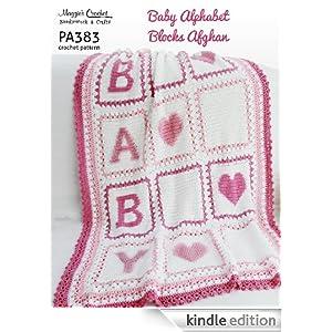 Crochet Pattern Babys Alphabet Blocks Afghan PA383-R ...