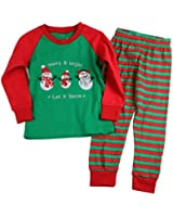 Girls Christmas pajama T shirt+long pants YSQA7051