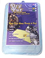 "DryFur Pet Carrier Insert Pads size Small 19.5"" x 12.5"" Blue - 2 pack"