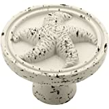 Liberty PBF657C-254-C 35-mm Seaside Cottage Starfish Cabinet Hardware Knob, Vintage Antique White