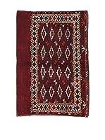 L'EDEN DEL TAPPETO Alfombra Afghan Rojo/Multicolor 80 x 115 cm