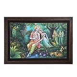 GATTS Radha Krishna Canvas Artistic Design Wall Painting In Wooden Frame (23x32.4x2 Inch)
