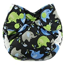 Blueberry Simplex All in One Diapers, Elephants, Newborn