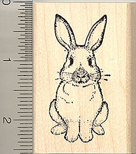Rabbit Rubber Stamp, Easter Bunny, or House Pet