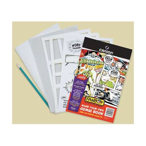 Canson C702-2198 Fanboy Create Your Own Comic Book Kit (Comic Book Making compare prices)