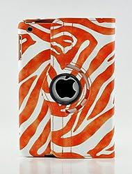 LiViTech(TM) Zebra Design Series 360 Degreee PU Leather Case Cover (Smart Cover's Sleep & Awake) for Apple iPad Mini 7.9' (Orange)