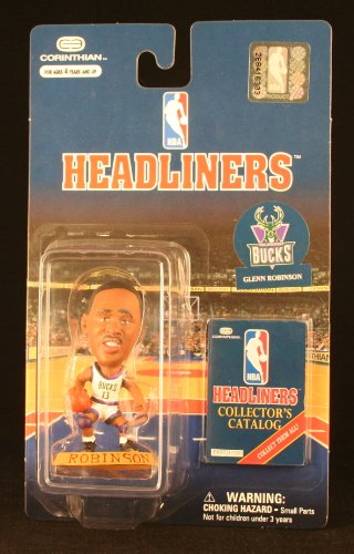 GLENN ROBINSON / MILWAUKEE BUCKS * 3 INCH * 1997 NBA Headliners Basketball Collector Figure - 1