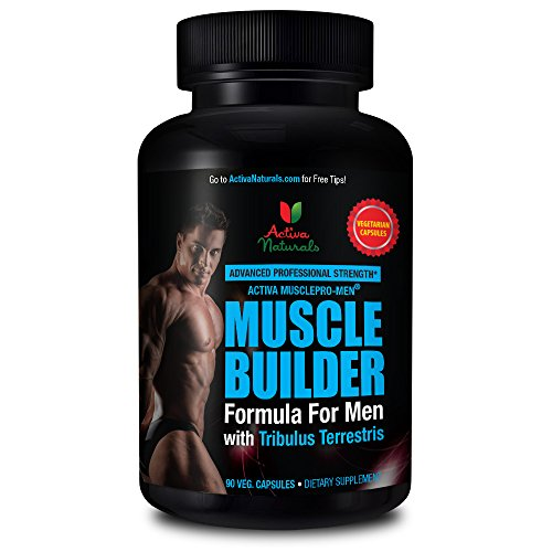 Activa Naturals Muscle Builder Supplement for Men - 90 Vegetarian Capsules to Support Bodybuilding Fitness Workouts (Mass Peak Protein Powder compare prices)
