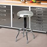 Seville Classics Stainless Steel Top Work Stool