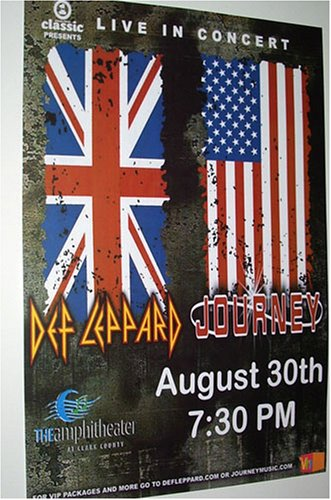 Def Leppard and Journey Concert Poster ... Rock of Ages, Vault,, Escape, Greatest Hits