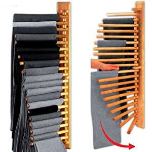 Wooden rotating trousers hanger rack for 20 pairs amazon - Comment ranger les foulards ...