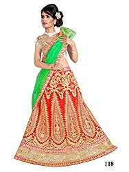 Mannat Fashion red embroidered designer bollywood collection partywear lehenga choli for women(MF-MAHETA-0123-RED.A_Red_Free Size)