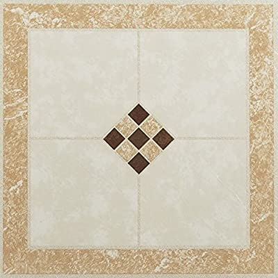 20 Pieces Diamonds Metallic Marble Vinyl Floor Tiles Self Stick Peek Flooring 12 x 12 1-Pack