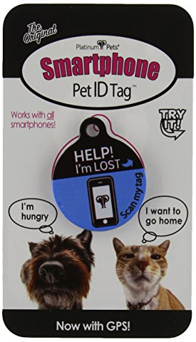 Platinum Pets The Original Smartphone Cat ID Tag with GPS, Blue