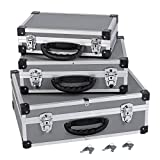3in1 Aluminium-Koffer Alukoffer Werkzeugkoffer-Set in Grau