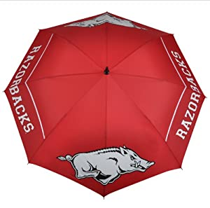 NCAA Arkansas Razorbacks 62-Inch WindSheer Hybrid Umbrella by Team Effort