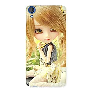 Stylish Cute Smiling Doll Multicolor Back Case Cover for HTC Desire 820s