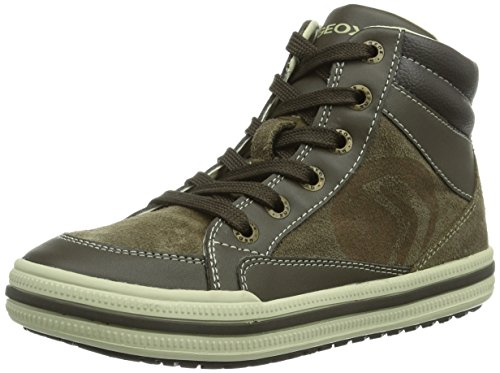 Geox JR ELVIS, Sneaker bambini, Braun (DK BEIGEC5005), 38 (5 UK)