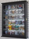 Shot glass display case cabinet holder rack shadow box with